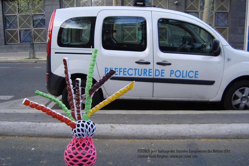 Balisage de Potobos réalisés par Paule Kingleur pour les Jema 2014 à Paris.