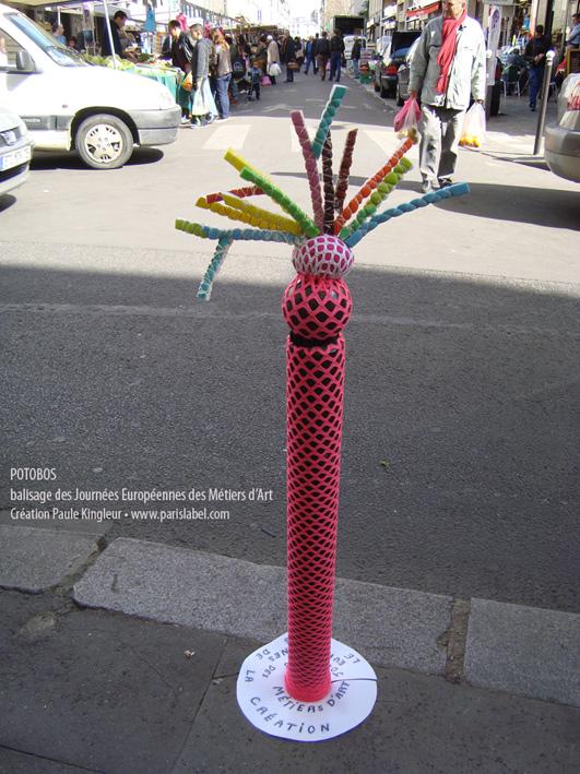 potobo rose de Paris Label / Paule Kingleur pour les Journées Européennes des Métiers d'Art à Paris