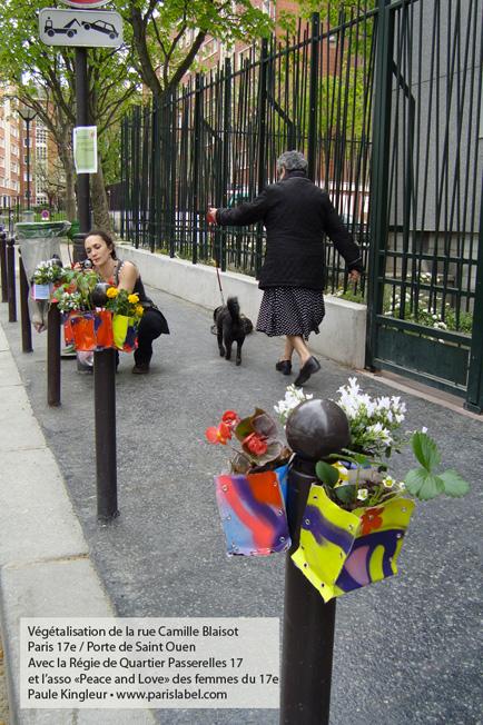 Végétalisation Potogreen - Paule Kingleur / Paris Label avec la Régie de Quartier Passerelles 17.