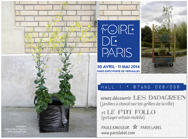 Paris Label à la Foire de Paris 2014 - Dadagreen et Zambu, créations Paule Kingleur