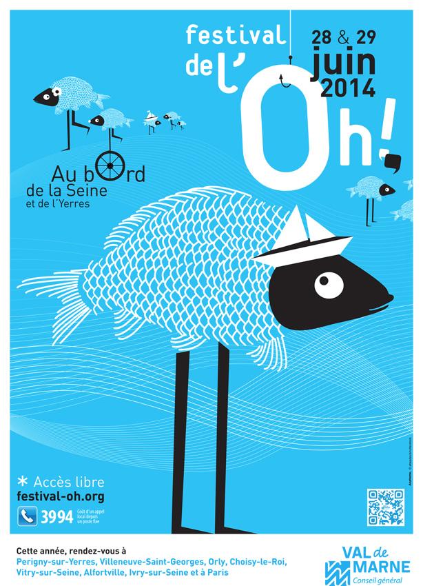 Paris Label est au Festival de l'Oh 2014, aux écluses d'Alfortville, chemin de halage côté Vitry. Installation Paule Kingleur