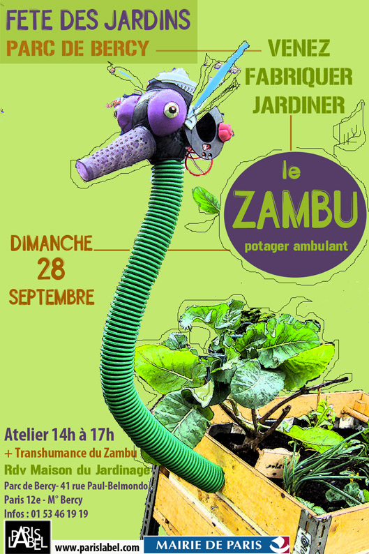 Zambu à la Fête des Jardins 2014 au Parc de Bercy