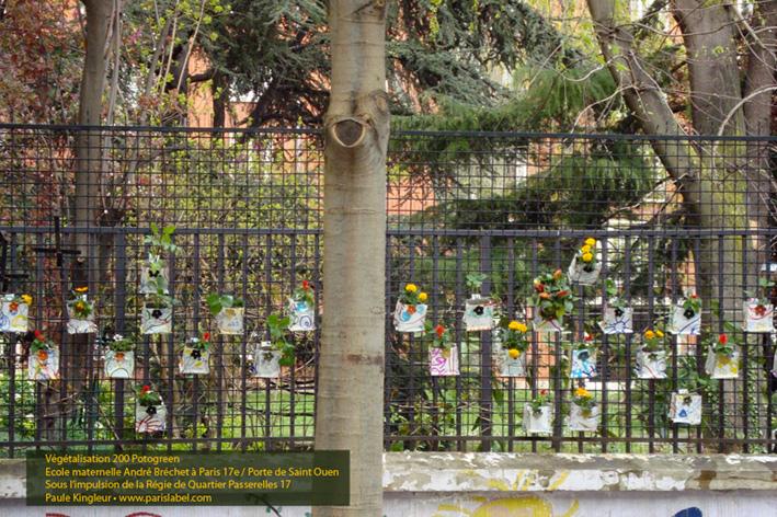 Potogreen école maternelle pour les 100 ans de Paris Habitat, avec la Régie de Quartier Passerelles 17 - Paris Label et Paule Kingleur - Avril 2014