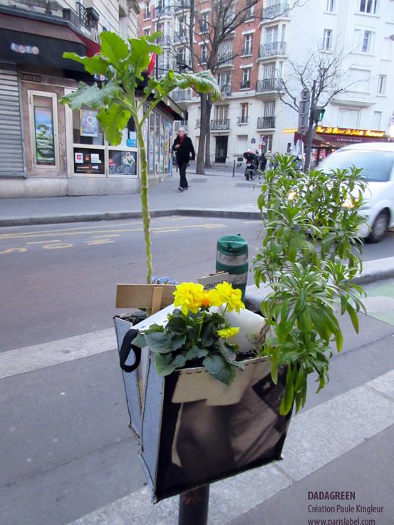 Dadagreen créé par Paule Kingleur - potager urbain Paris Label