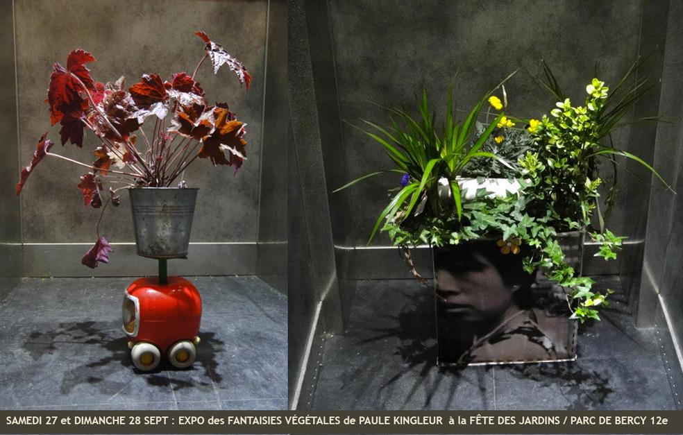 Expo des fantaisies végétales urbaines de Paule Kingleur au Parc de Bercy / Fête des Jardins 2014