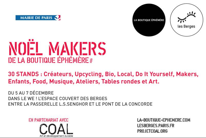 Marché de Noël sur les Berges de Seine - Noël Makers, du 5 au 7 décembre 2014