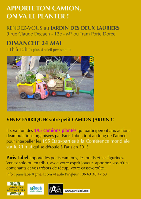 Atelier Apporte ton camion, on va le planter - Paule Kingleur / Paris Label