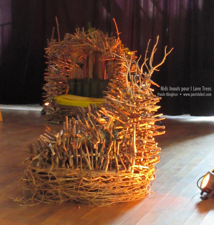 Nids inouïs - création paule Kingleur pour l'évènement I Love Trees de la Fondation Yves Rocher