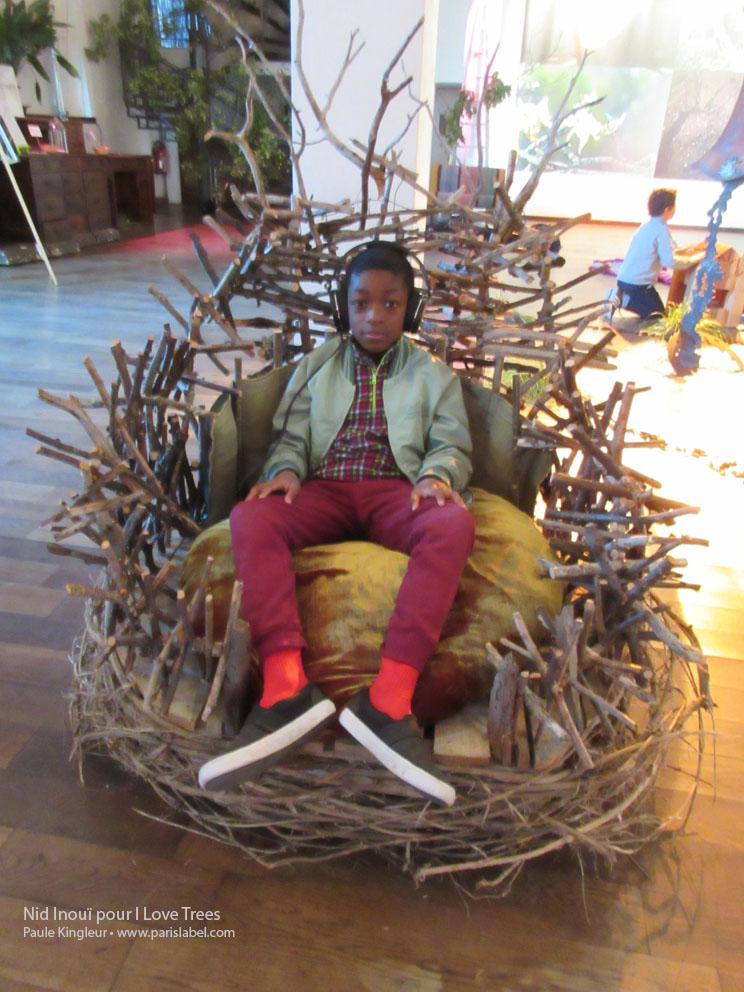 nid inouï de Paule kingleur pour I Love Trees - Bellevilloise octobre 2015