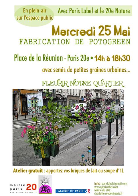 Atelier Potogreen Paris 20e, petits jardins urbains de Paule Kingleur