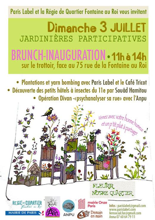 Jardinières participatives Fontaine au Roi - Paule Kingleur