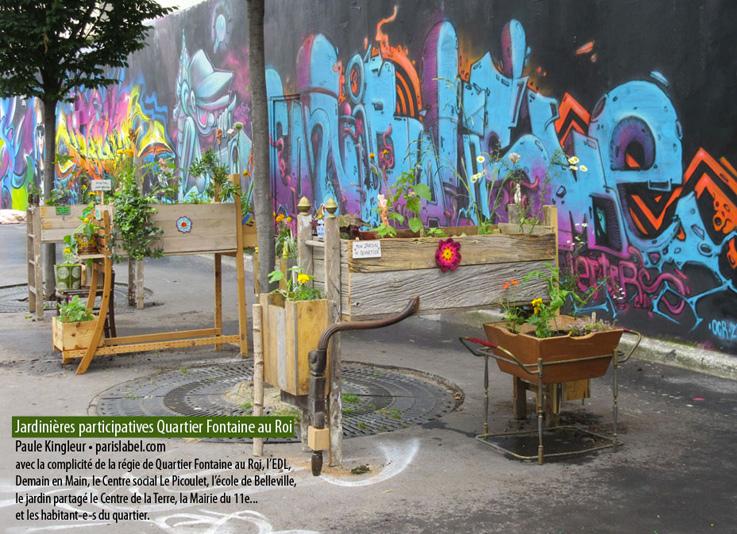 jardinières-Paris-Label- Végétalisation Quartier Fontaine au Roi Paris 11e juillet 2016