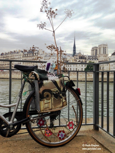 roue arrière crochet vélo parade sans moteur Paule Kingleur