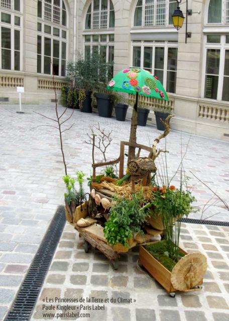 Jardin mobile dans Paris, créaton Paule Kingleur