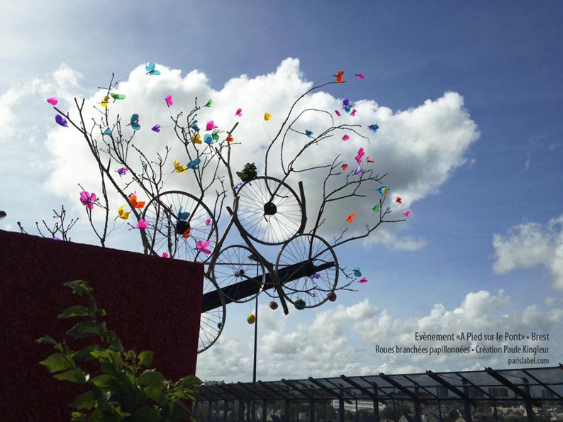 roues aux papillons pont-schuman Brest-Paule Kingleur - A pied sur le pont