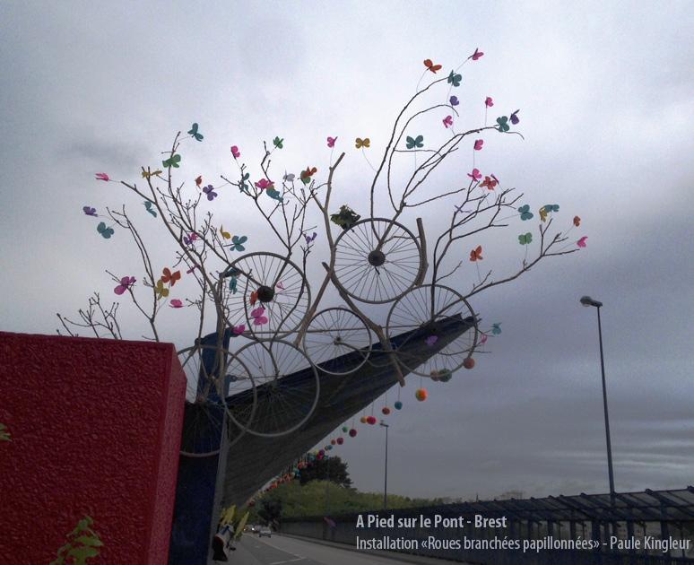 Structure artistique au Pont Schuman à Brest - création Paule Kingleur