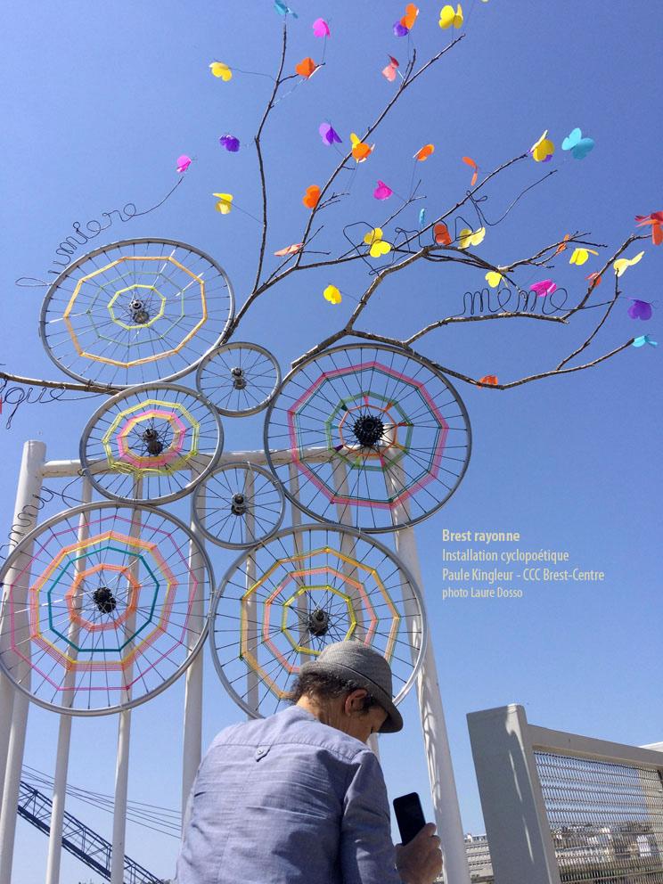 Brest même, mots glanés de l'installation Paule Kingleur / CCQ Brest Centre ©Laure Dosso