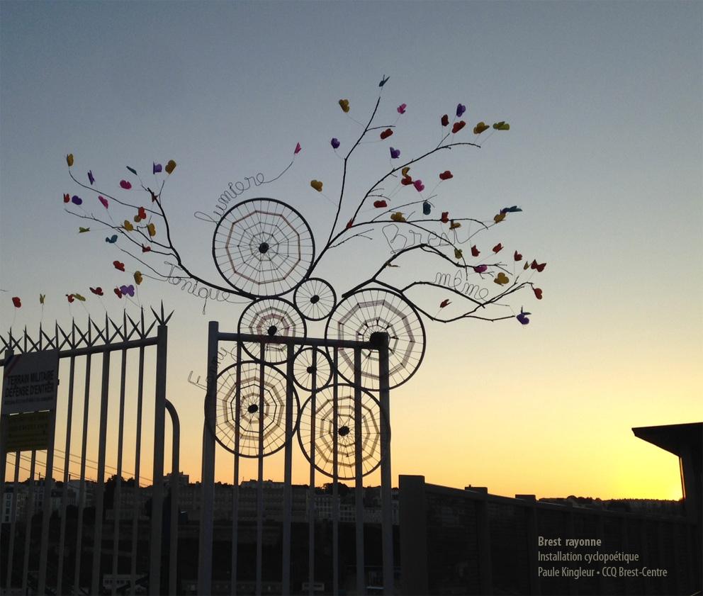 """""""Brest rayonne"""", création Paule Kingleur, à l'initiative de Laure Dosso et le CCQ Brest Centre"""