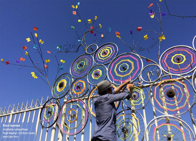 """installation artistique """"brest rayonne"""" par paule kingleur ©laure-dosso"""