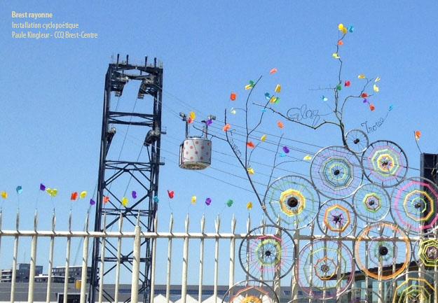 telepherique-pois-et-roues-brest rayonne - Création Paule Kingleur avec le CCq de Brest Centre